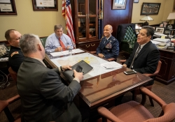 April 24, 2018: Senator Costa meets with future Brigadier Generals.