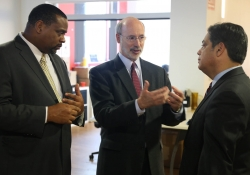 "Governor Wolf and Senator Jay Costa Tour AlphaLab Gear on ""Jobs that Pay"" Tour :: January 7, 2016"