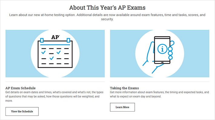 About This Years AP Exams