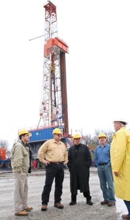 Touring Marcellus Shale drilling location