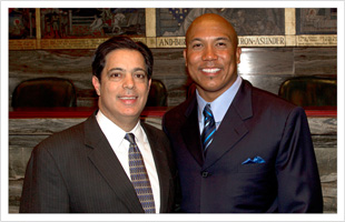 Hines Ward and Senator Jay Costa