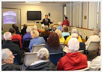 Senator Costa hosts an event on identity theft and scam prevention with the Pa Department of Banking and Securities at the Greater Pittsburgh JCC.