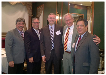 Pictured left to right: with Reps. Paul Costa and Dom Costa, Matt Smith, Rep. Dan Frankel, and Sen. Jay Costa