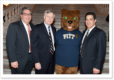 Rep. Paul Cosa, University of Pittsburgh Chancellor Mark A. Nordenberg, and Sen. Jay Costa