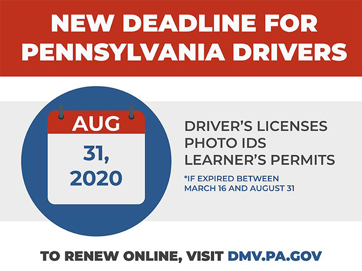 Deadlines Extended for Driver's Licenses, ID Cards and Learner's Permits