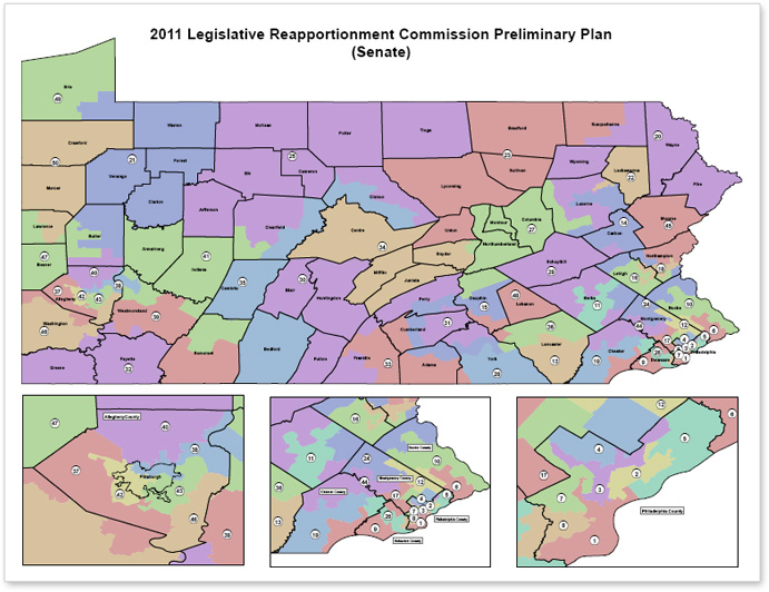 Pennsylvania Reapportionment Commission  Preliminary Plan