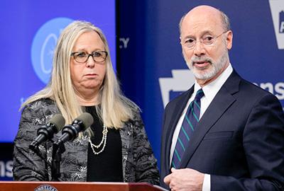Dr. Rachel Levine & Gov. Wolf