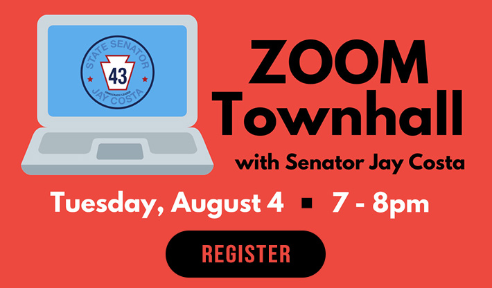 Virtual Townhall – August 4, 6pm