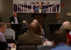January 29, 2019: Senator Jay Costa speaks at AFL-CIO annual legislative conference.