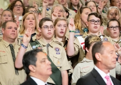 June 11, 2019: Senator Costa during Boy Scouts Report to the Commonwealth. Boy Scouts present a report on scouting in the Commonwealth to Governor Wolf and Senate and House Leaders.