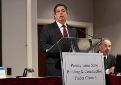 June 11, 2019: Senator Costa speaks at the Building Trades Conference.