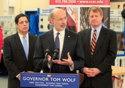 March 10, 2015: Senator Costa tours CCAC West Hills with Gov. Tom Wolf and Allegheny County Executive Rich Fitzgerald.