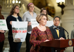 January 28, 2020: Senator Jay Costa joins PennEnvironment for Press Conference to releases the  Trouble in the Air Report.