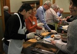 "March 2017: Senator Jay Costa serves as a ""Celebrity Soup Server"" at the Empty Bowls Dinner."