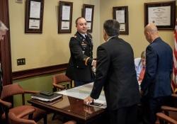 April 24, 2018: Senator Costa meets with future Brigadier Generals.
