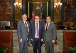 Senator Costa, Chief Counsel CJ Hafner, legal intern John Baughman