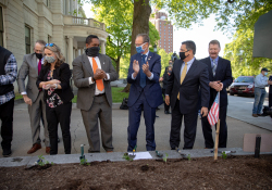May 11, 2021: Senator Costa attends PA Hunger Garden Dedication at the state Capitol. The bipartisan, bicameral Hunger Caucus works together with local master gardeners to provide hundreds of pounds of food from this garden every year for local organizations that fight food insecurity, including Downtown Daily Bread and the Central PA Food Bank.