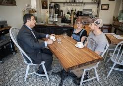April 30, 2018 :: Senator Costa visits Madeleine's Bakery in Wilkinsburg.