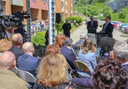 May 16, 2019: Sen. Costa was on hand to celebrate the groundbreaking of the New Riverview, formally Riverview Towers on Brownsville Road.