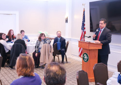 February 21, 2020: Costa discusses education issues with members of the PA Association of School Business Officials.