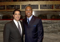May 22, 2012: Senator Costa Welcomes Hines Ward to the State Capitol