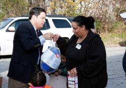 November 2012: Senator Costa Holds Turkey Giveaway