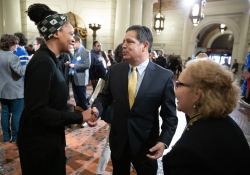 March 26, 2019: Senator Costa visits with students, professors and administrators from University of Pittsburgh on Pitt Day in Harrisburg.