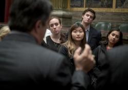 Senator Costa with Students from PITT