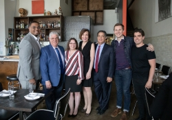 May 23, 2019: Senator Jay Costa visits Bar Marco in the Strip District as part of the Real Jobs, Real Pay Tour. This location was chosen because it is a perfect example of a business doing the right thing for their employees and paying a not only a minimum wage, but a living wage.