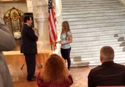 September 2016: Senator Costa Honors Helen Franz