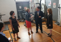 May 31, 2019: Sen. Costa and Rep. Jake Wheatley toured the Centre Ave YMCA building and offered their support for the renovation of the historic structure.