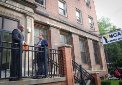 May 31, 2019: Sen. Costa and Rep. Jake Wheatley toured the Centre Ave YMCA building and offered their support for the renovation of the historic structure.IMG_9861
