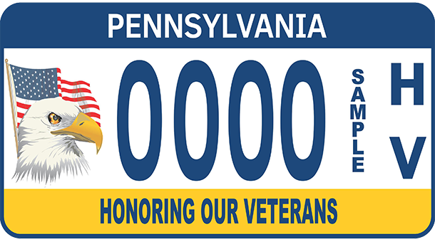 Honoring our veterans license plate available now for Free fishing license for veterans