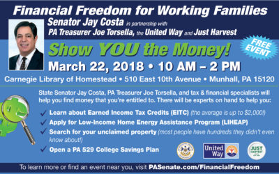 Senator Costa & Treasurer Torsella Host Financial Services Event
