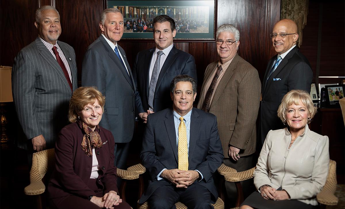 Sens. Anthony H. Williams, John Blake, Larry Farnese, Wayne Fontana, Vincent Hughes, Judy Schwank, Jay Costa, Lisa Boscola