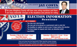 Election Information Sessions