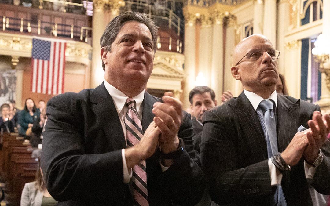 Senators Jay Costa and Vincent Hughes