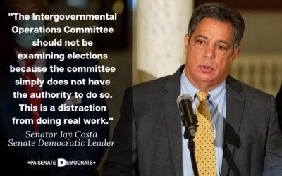 Los miembros demócratas del Senado de la Comisión de Operaciones Intergubernamentales se preguntan por qué los republicanos del Senado están haciendo un mal uso de las comisiones y los recursos del Estado